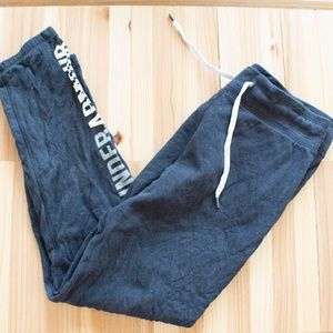 Women's Grey White Under Armour Sweatpants Small